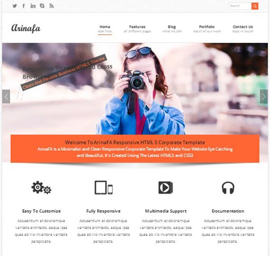 arinafa-wordpress-corporate-theme