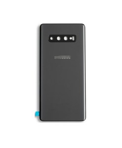 OEM Battery Cover with Camera Glass for Samsung Galaxy S10 Plus - Ceramic Black