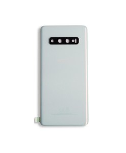 OEM Battery Cover with Camera Glass for Samsung Galaxy S10 - Prism White