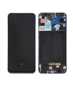 OEM Screen With Frame Replacement For Samsung Galaxy A50 (2019) - Black