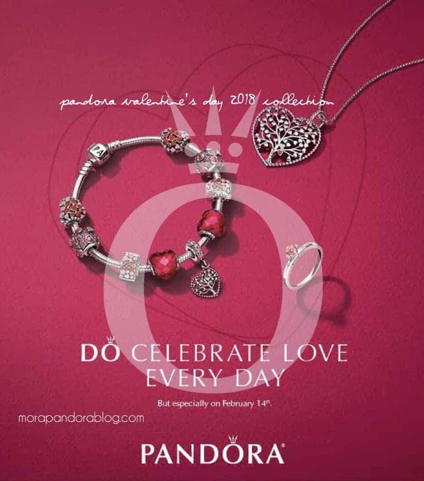 Collection Pandora 2018 St Valentin Les Charms Et
