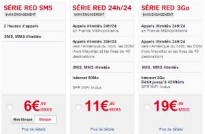 Forfaits RED de SFR