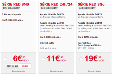 Forfaits RED de SFR