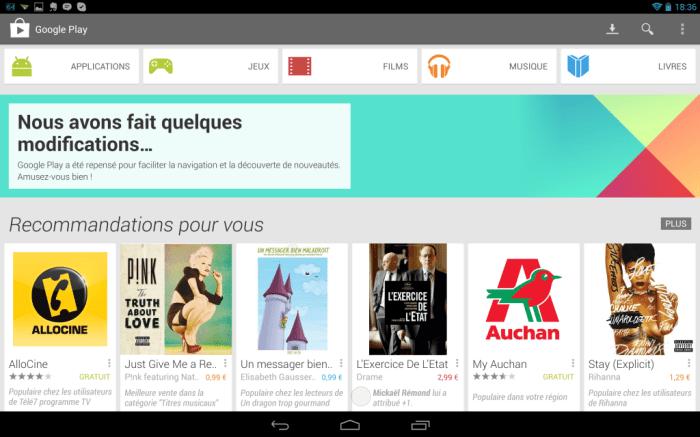 Google Play Store apk Accueil1