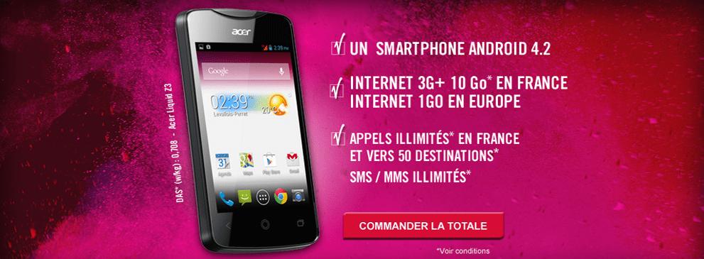 Forfaits illimités sans engagement - Telib - Virgin Mobile