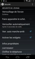 Protéger et Sécuriser son smartphone Android - Ecran Verrouillage