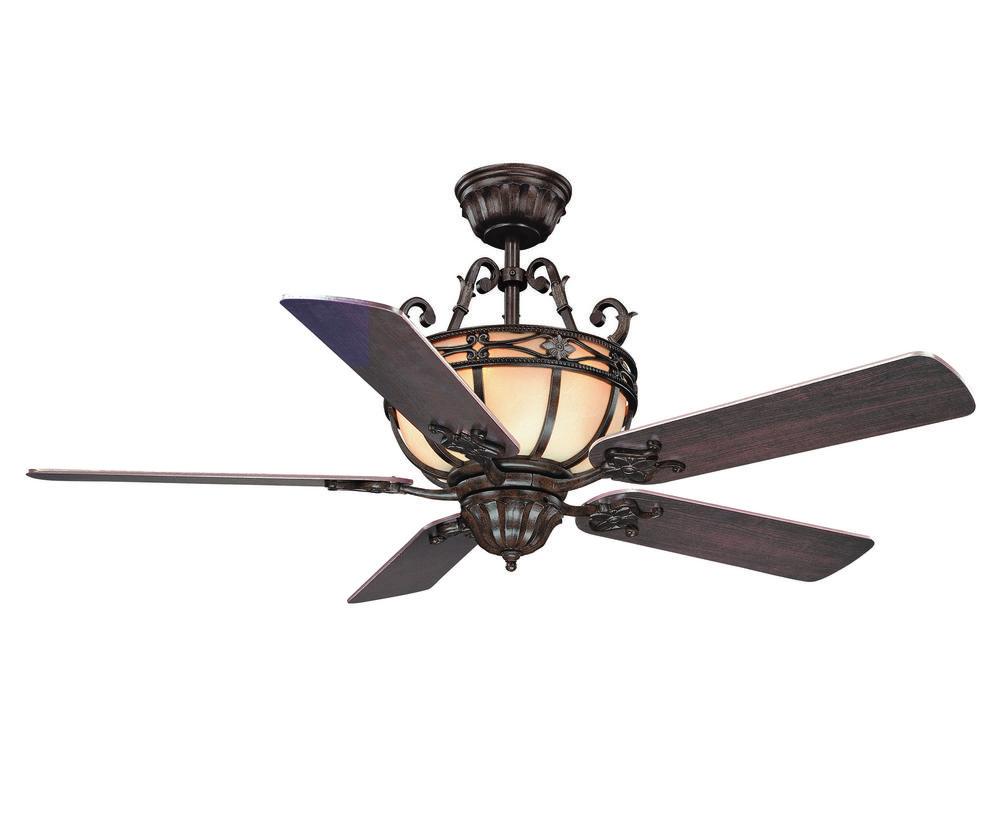 six light moroccan bronze ceiling fan