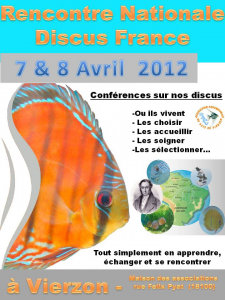 Affiche Rencontre Nationale Discus France 2012