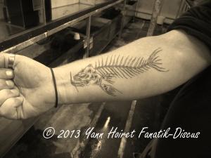 Tattoo fish forearm