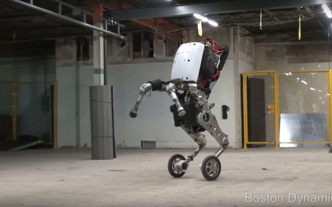 Handle il robot di Boston Dynamics che salta fino ad un metro.