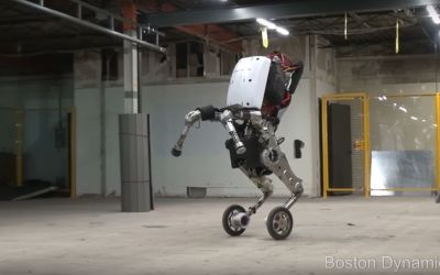Handle il robot di Boston Dynamics che salta fino ad un metro.