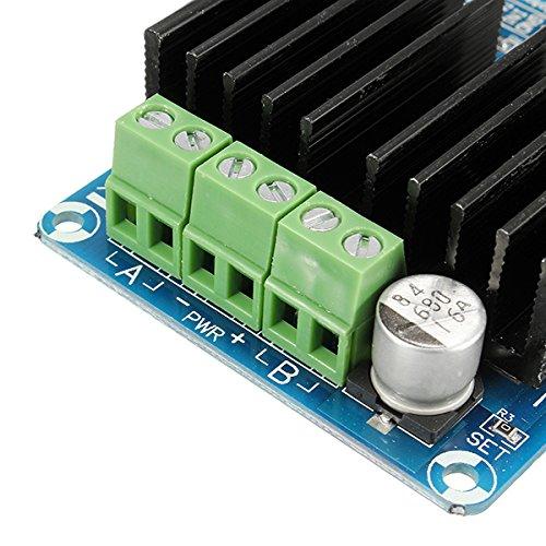 DBH-12V terminali di collegamento per i motori e la sorgente di alimentazione.