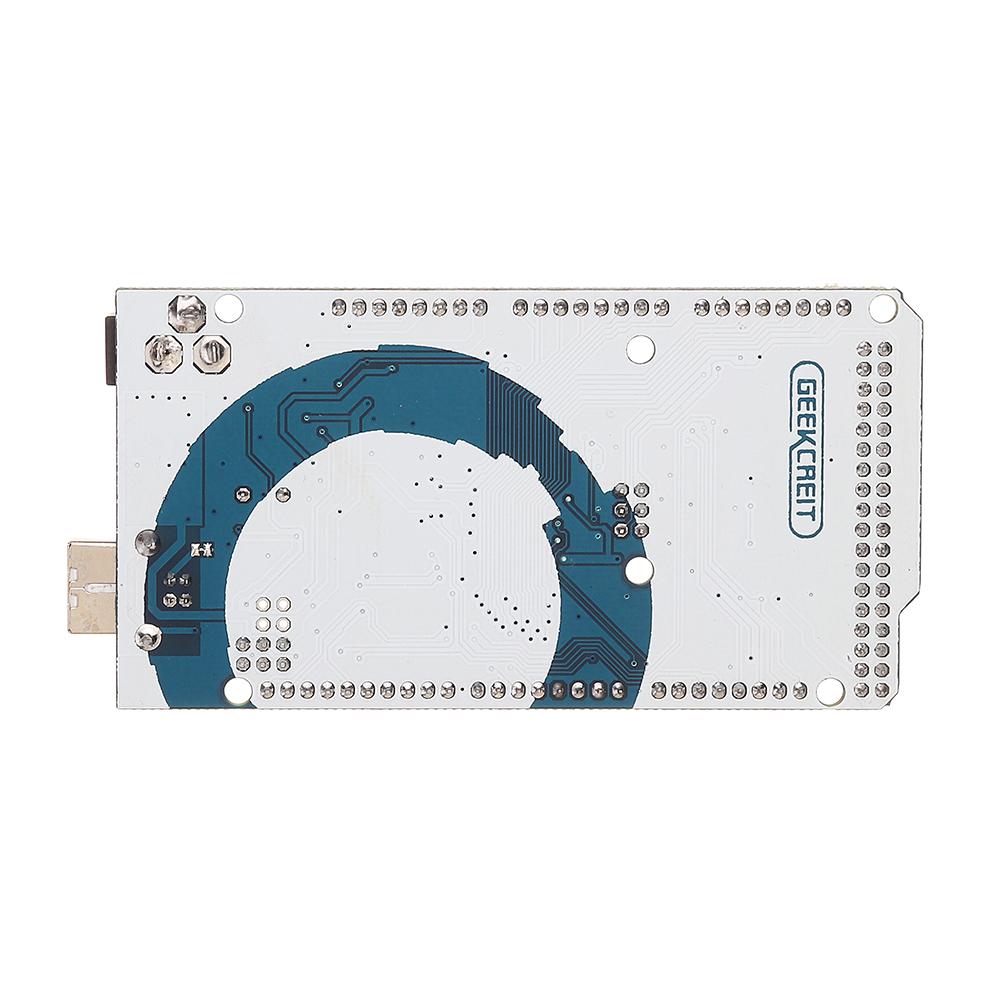 Geekcreit® MEGA 2560 R3 - ATmega2560-16AU inferiore