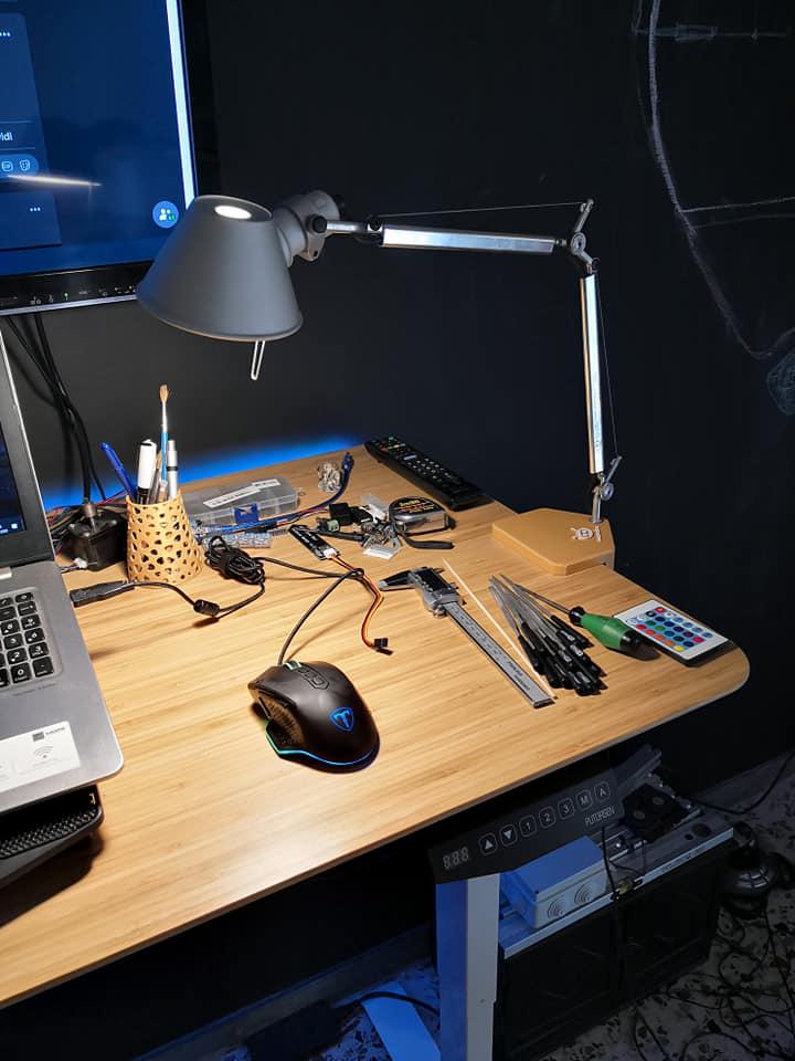 Supporto a morsetto lampada Artemide micro - panoramica