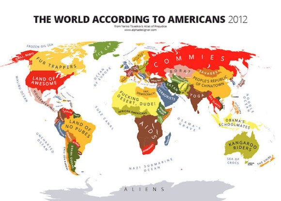 the world according to americans map