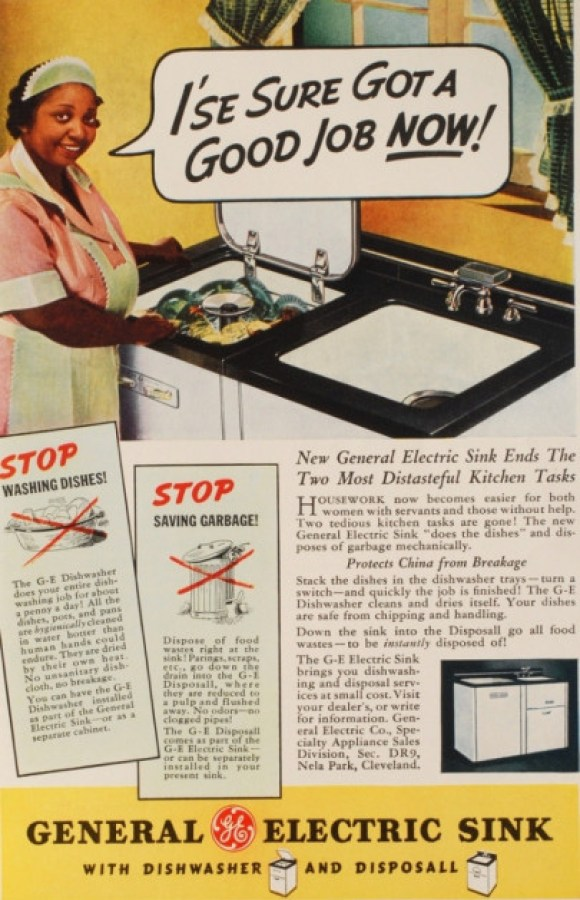 racist general electric sink ad