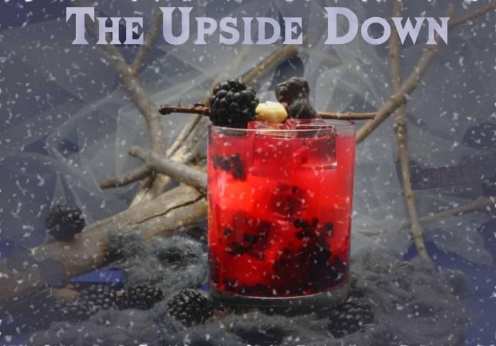 Upside Down Blackberry Cocktail