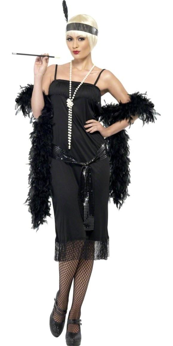 Adult Flappers Dress Black - 28605 - Fancy Dress Ball
