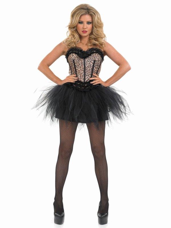 Adult Burlesque Leopard Tutu Costume - FS3366 - Fancy ...