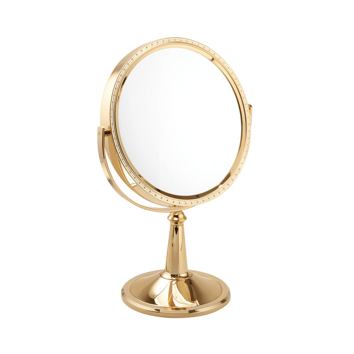 Mad10x Magnification Large Pedestal Mirror In Gold