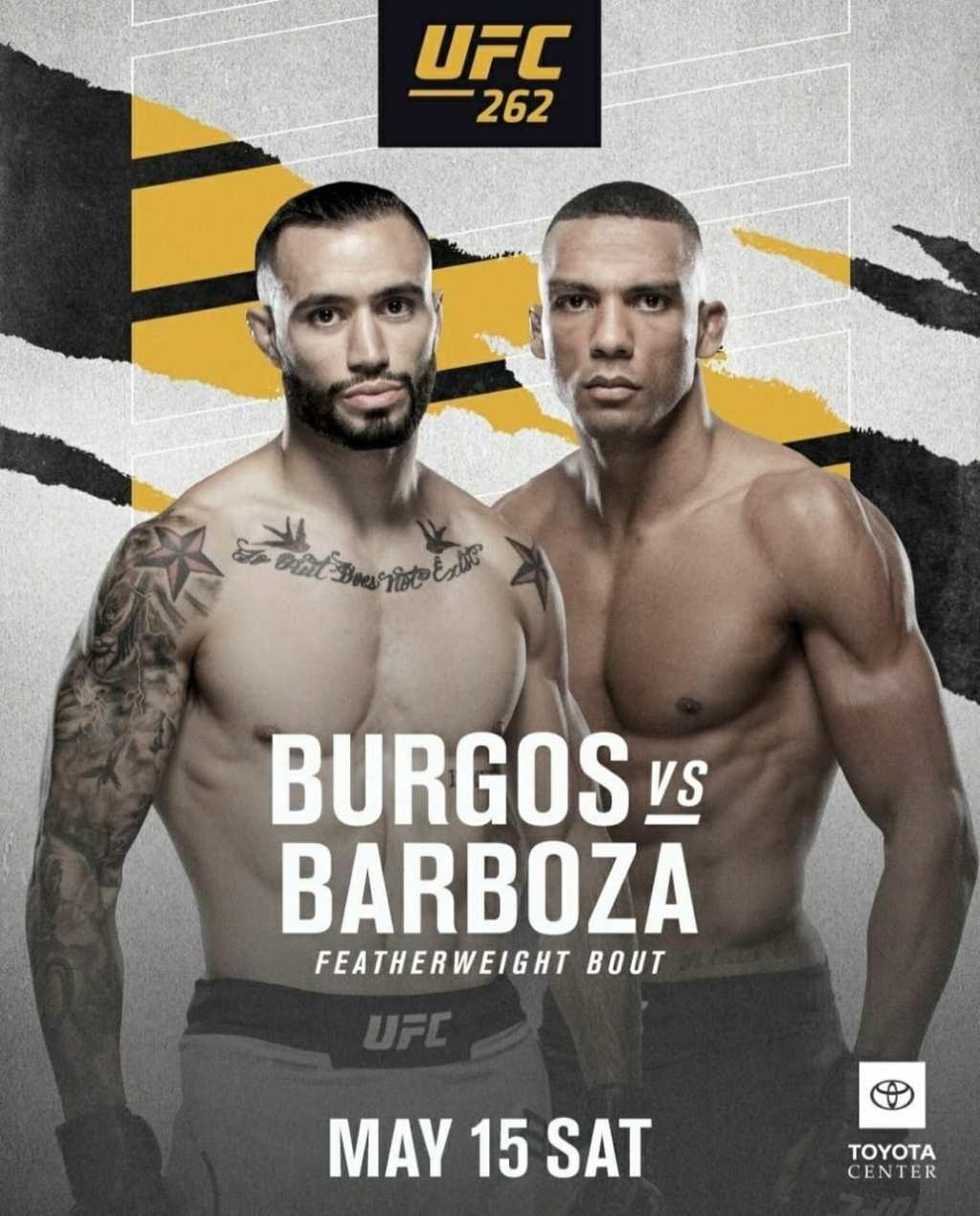 UFC 262 Burgos vs Barboza | Ultimate Fighting Championship Burgos vs Barboza