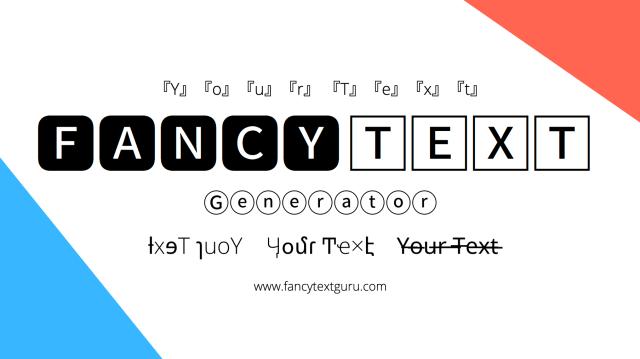 Fancy Text Generator 𝕮𝖔𝖔𝖑