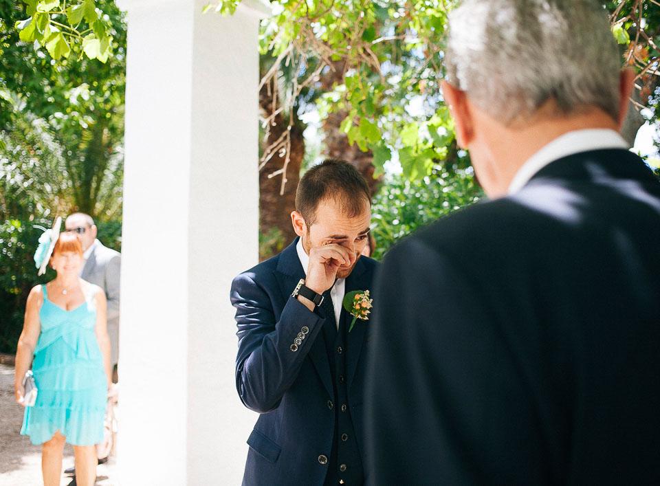 15 novio emocionado al ver a la novia