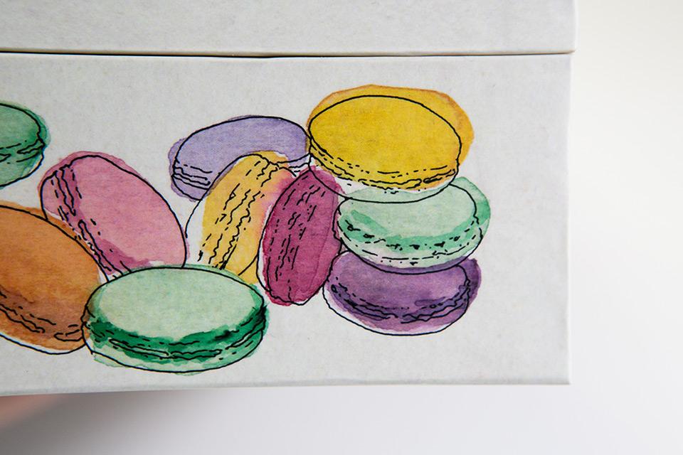 detalle de macaron en ilustracion