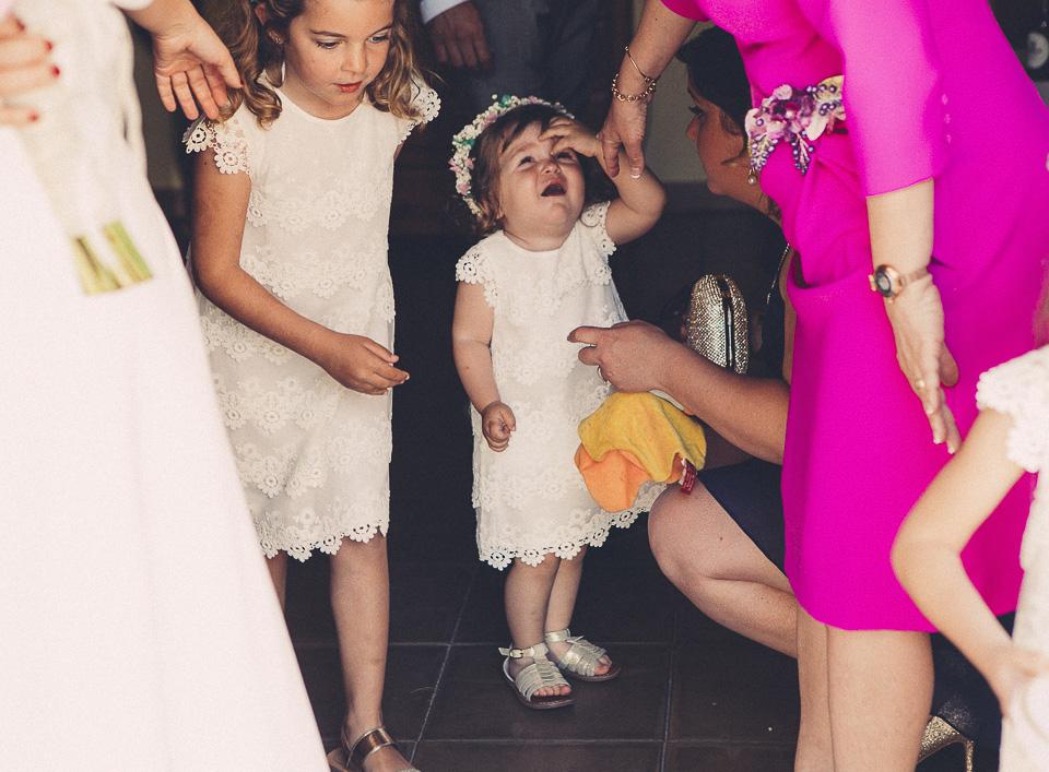 26 peques llorando en boda