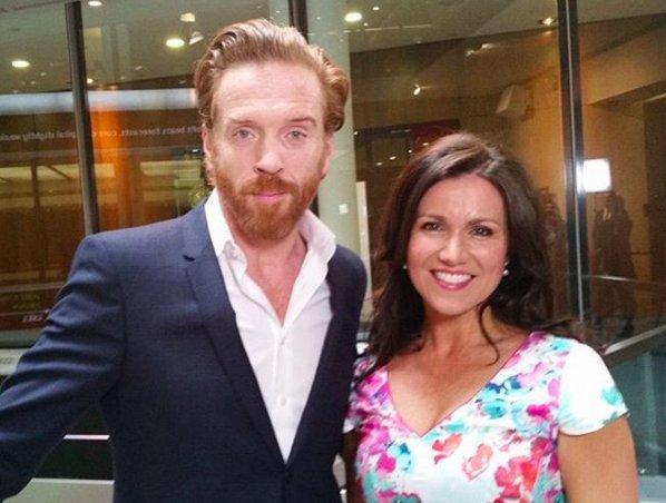 Damian Lewis talks to Susanne Reid on Good Morning Britain :)