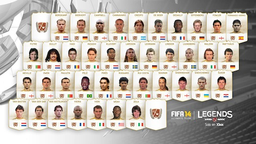 FIFA 14 Ultimate Team Legends