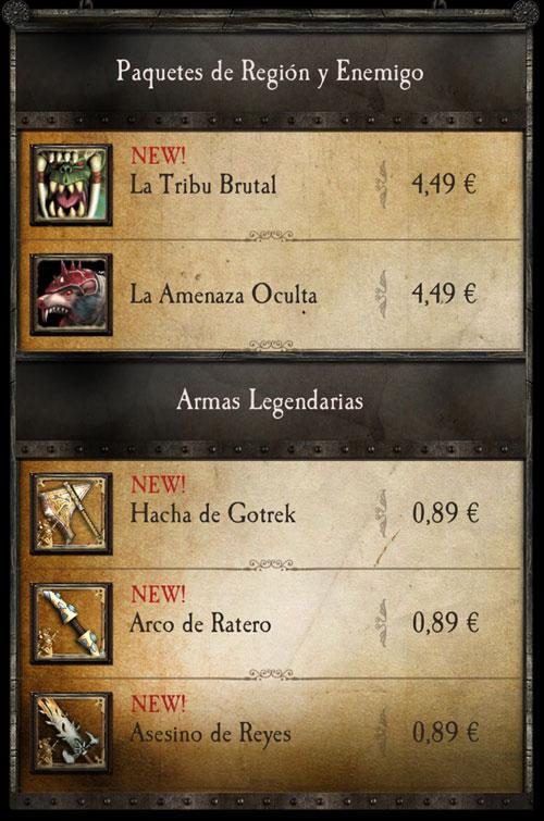 Nueva región app Warhammer Quest
