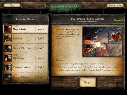 Nuevos personajes app Warhammer Quest
