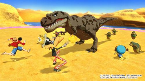 one piece misión dinosaurios