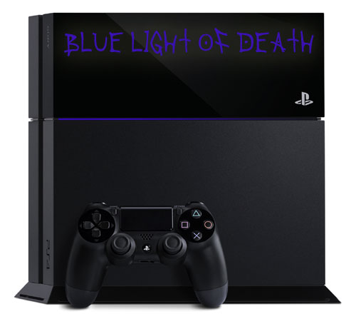 ps4 blue light of death