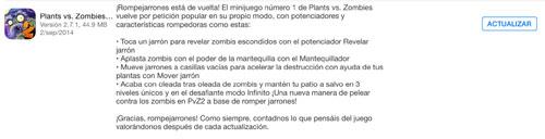 actualización plants vs zombies 2 septiembre