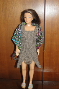 Lammily Night on the Town Dress and Shawl from Grama's Passion