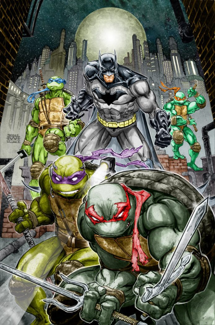 Batman/Teenage Mutant Ninja Turtles Crossover Image 2