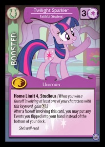 Mane Character card second side