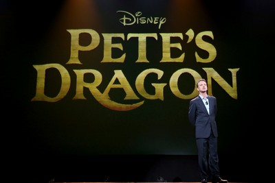 "ANAHEIM, CA - AUGUST 15: President of Walt Disney Studios Motion Picture Production Sean Bailey took part today in ""Worlds, Galaxies, and Universes: Live Action at The Walt Disney Studios"" presentation at Disney's D23 EXPO 2015 in Anaheim, Calif. PETE'S DRAGON will be released in U.S. theaters on August 12, 2016.  (Photo by Jesse Grant/Getty Images for Disney) *** Local Caption *** Sean Bailey"