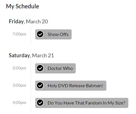 MSC 33 Schedule