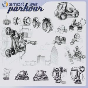 Smart 341 Parkour concept for LA Auto Show Design Challenge
