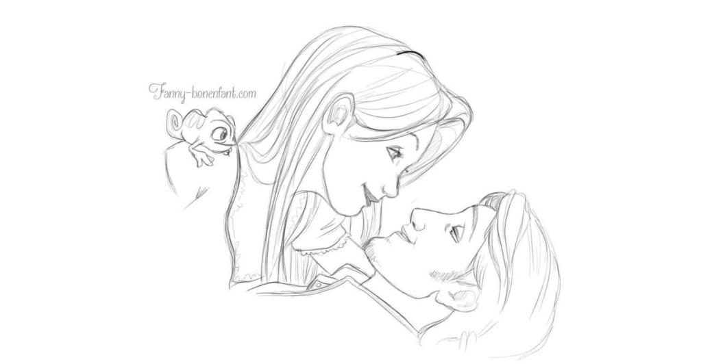 Raiponce Disney brune fanny bonenfant illustration alsace