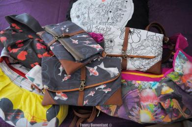 Déstockage massif textile, design textile et couture (sac, coussin, sacoche)