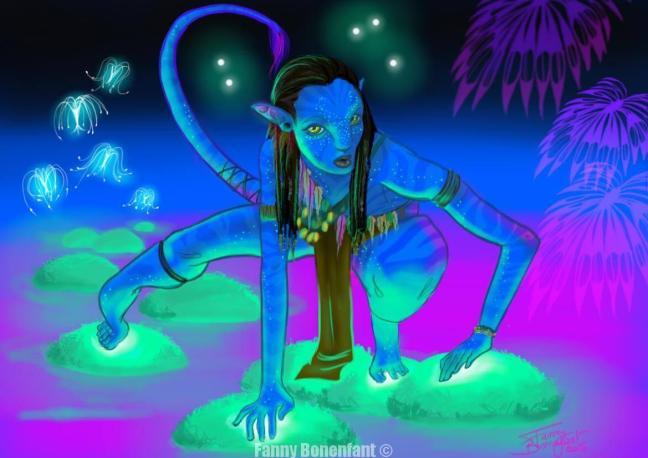 Princesse Neytiri - Avatar fan art (version 1.0)
