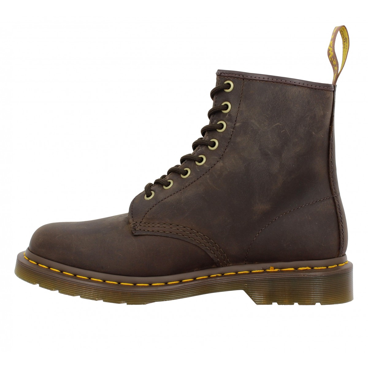 Dr Martens 1460 Box Gras Homme Brun Fonce Fanny Chaussures