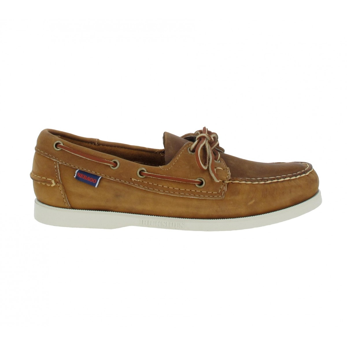 Sebago Docksides Cuir Homme Brun Fanny Chaussures