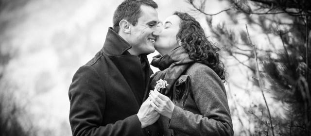 Première séance d'engagement de mariage de l'année : Jeanne et Matthieu