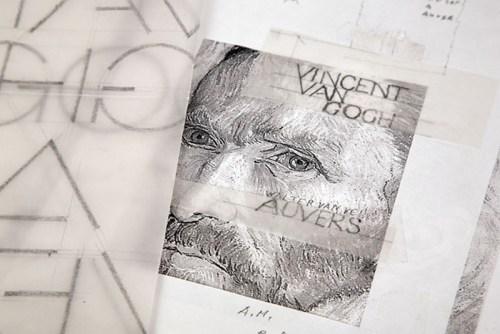 Vincent van Gogh Maquette papier