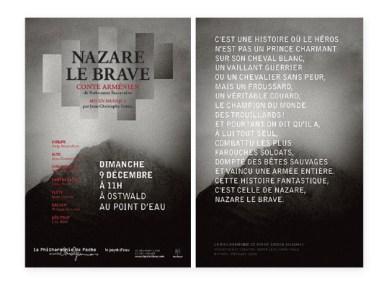 Flyer Philharmonie de Poche Nazare Le Brave
